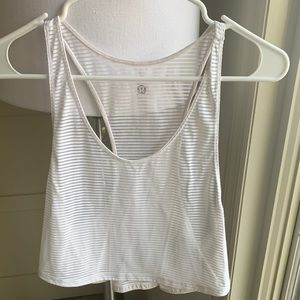 Striped Swift Crop Tank - Size 4
